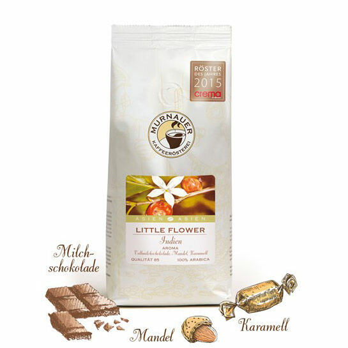 Murnauer Kaffeerösterei Little Flower, Indien 1000g Bohnen