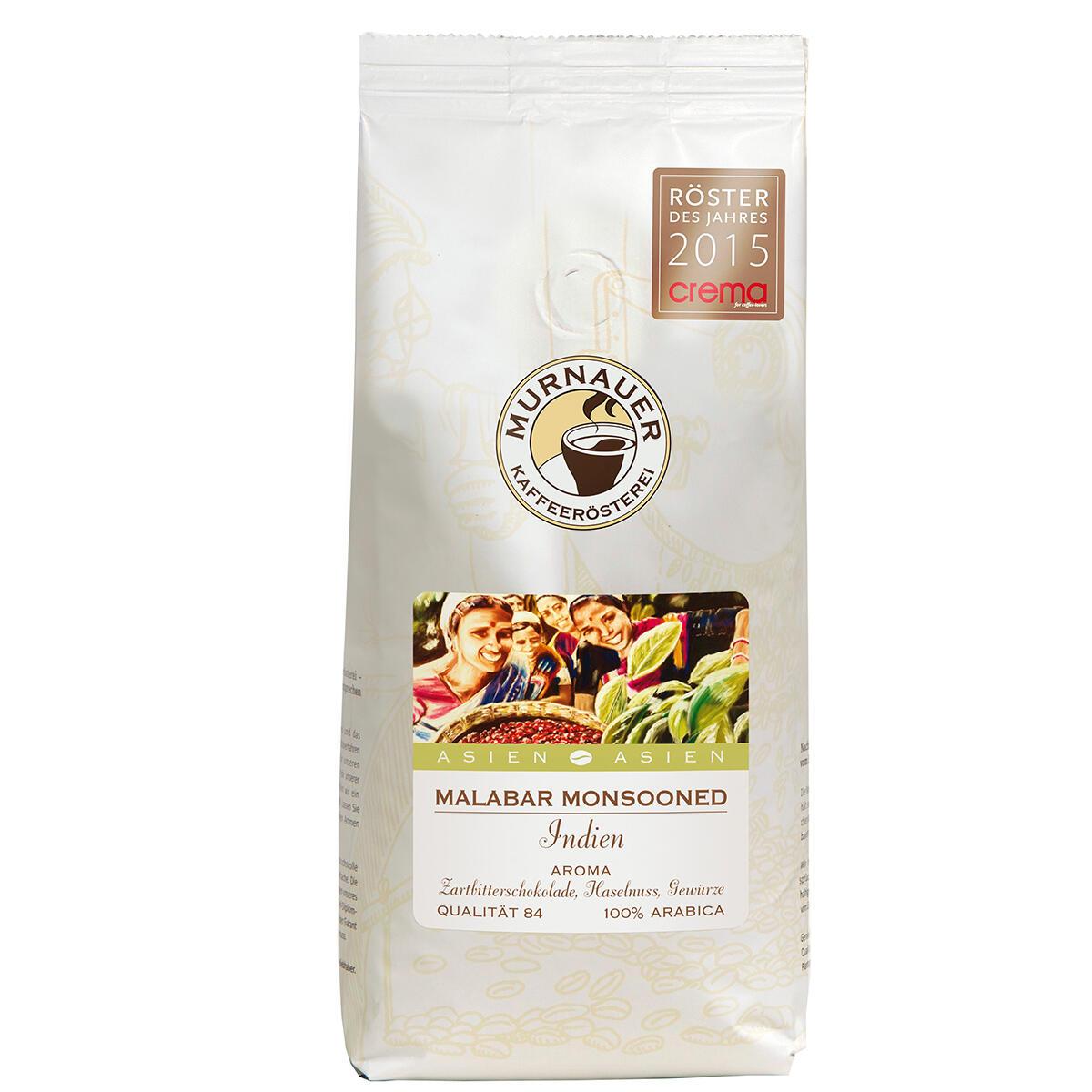 Murnauer Kaffeerösterei Malabar, Monsooned, Indien 250g Bohnen